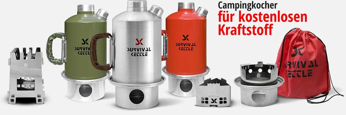 Campingkocher, Wasserkocher mit kostenlosem Kraftstoff